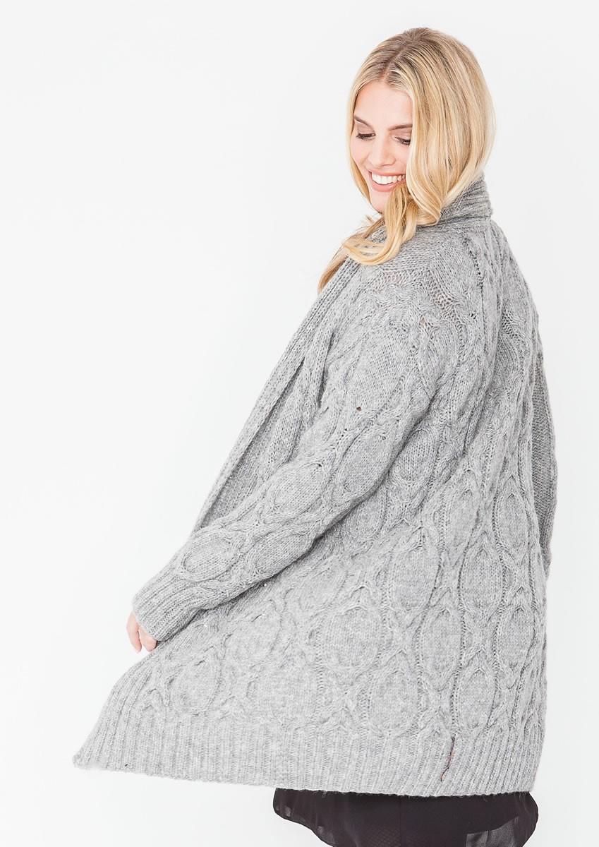 Lana Grossa Удлиненный жакет с косами Alta Moda Alpaca