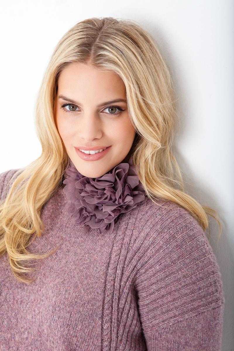 Lana Grossa Пуловер, связанный резинкой с косами Cashmere 16 Fine