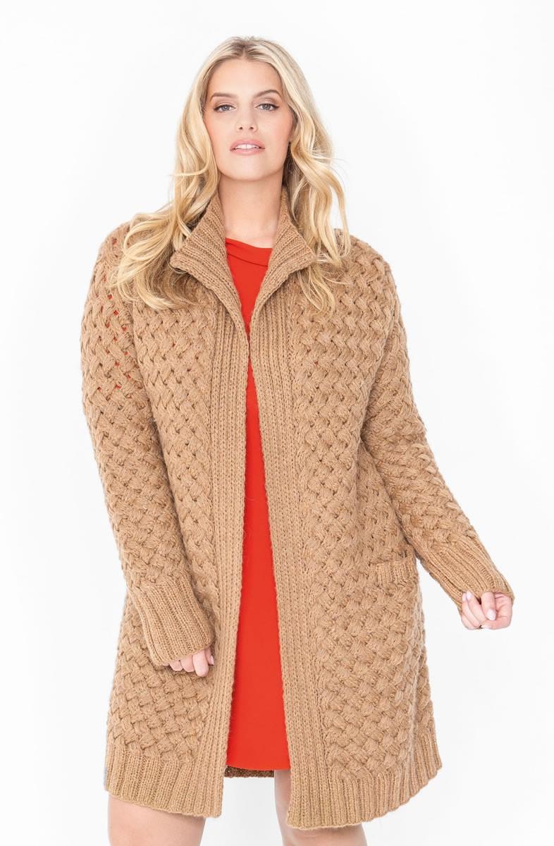 Lana Grossa Удлиненный жакет, связанный плетеным узором Arioso