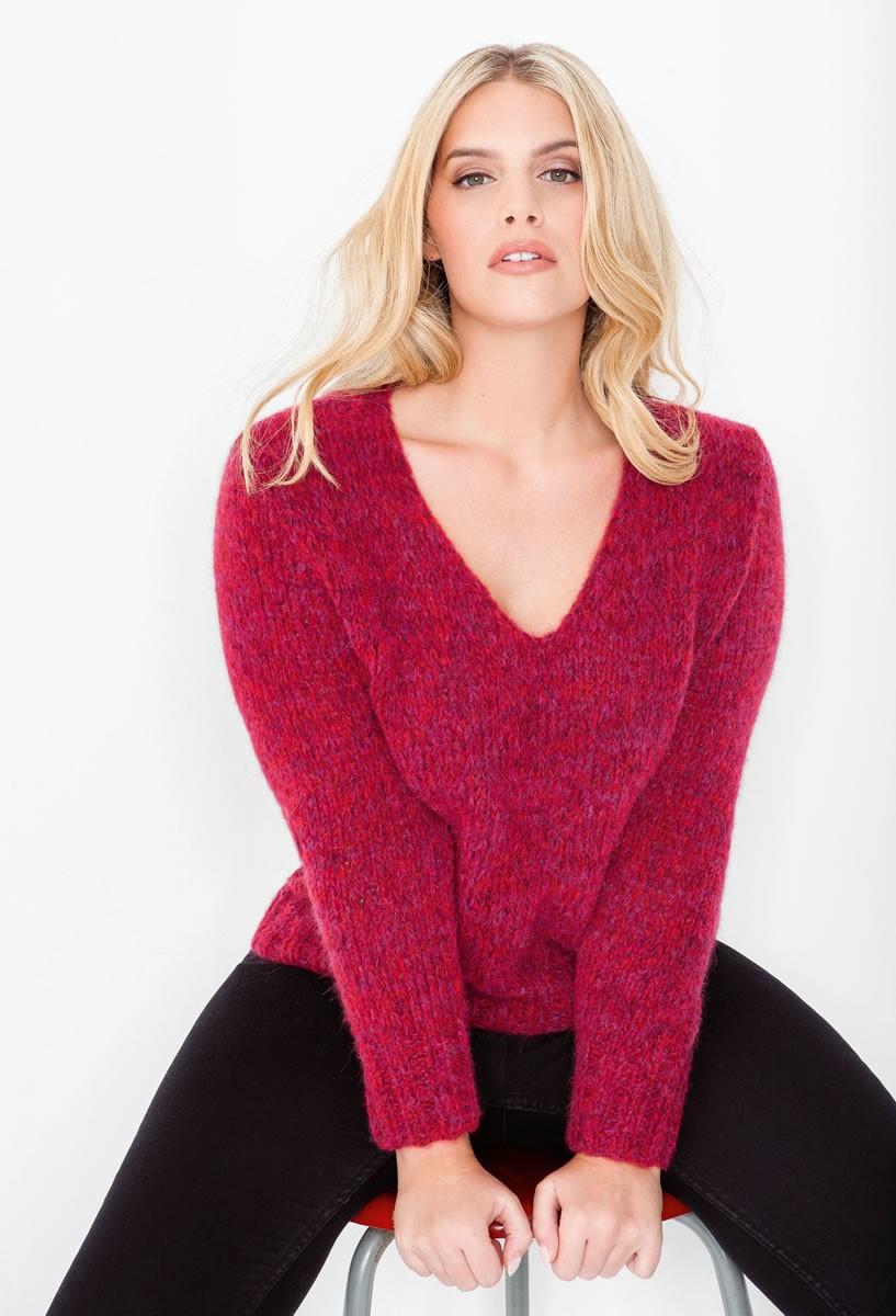 Lana Grossa Пуловер с V-образным вырезом горловины Alpaca 400