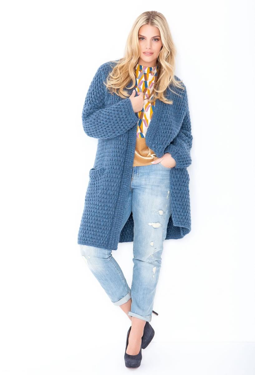 Lana Grossa Пальто, связанное узором со снятыми петлями Yak Merino
