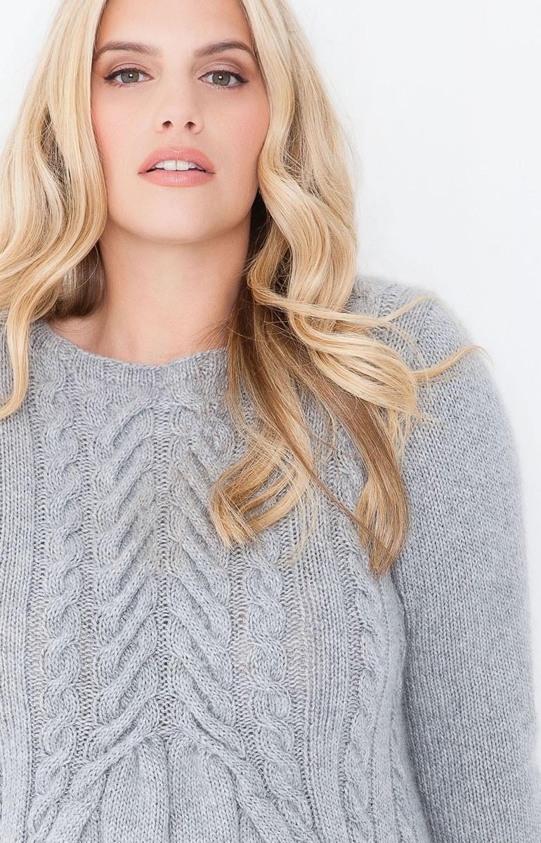 Lana Grossa Пуловер, связанный узором с косами 100% Cashmere Fine