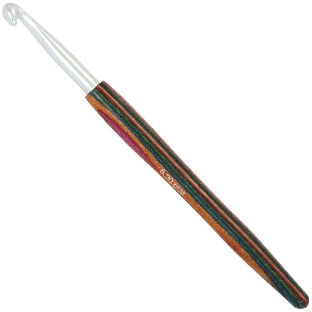 Lana Grossa Крючок из алюминия с деревянной ручкой Color №  6,0