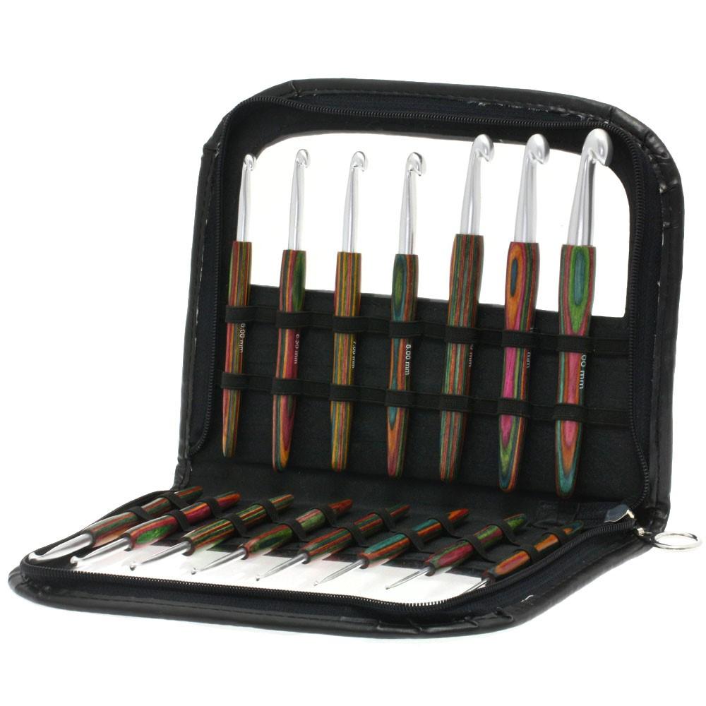 Lana Grossa Набор крючков с деревянной ручкой Design-Holz Color